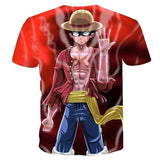 Men Women Anime One Piece 3d The king of the - MEN TOPS - NIGEL MARK