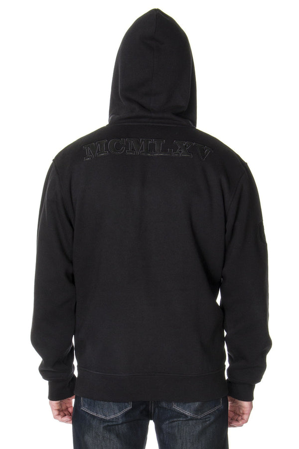 Men's Black Fleece Zip Hoodie - Men's Clothing - NIGEL MARK