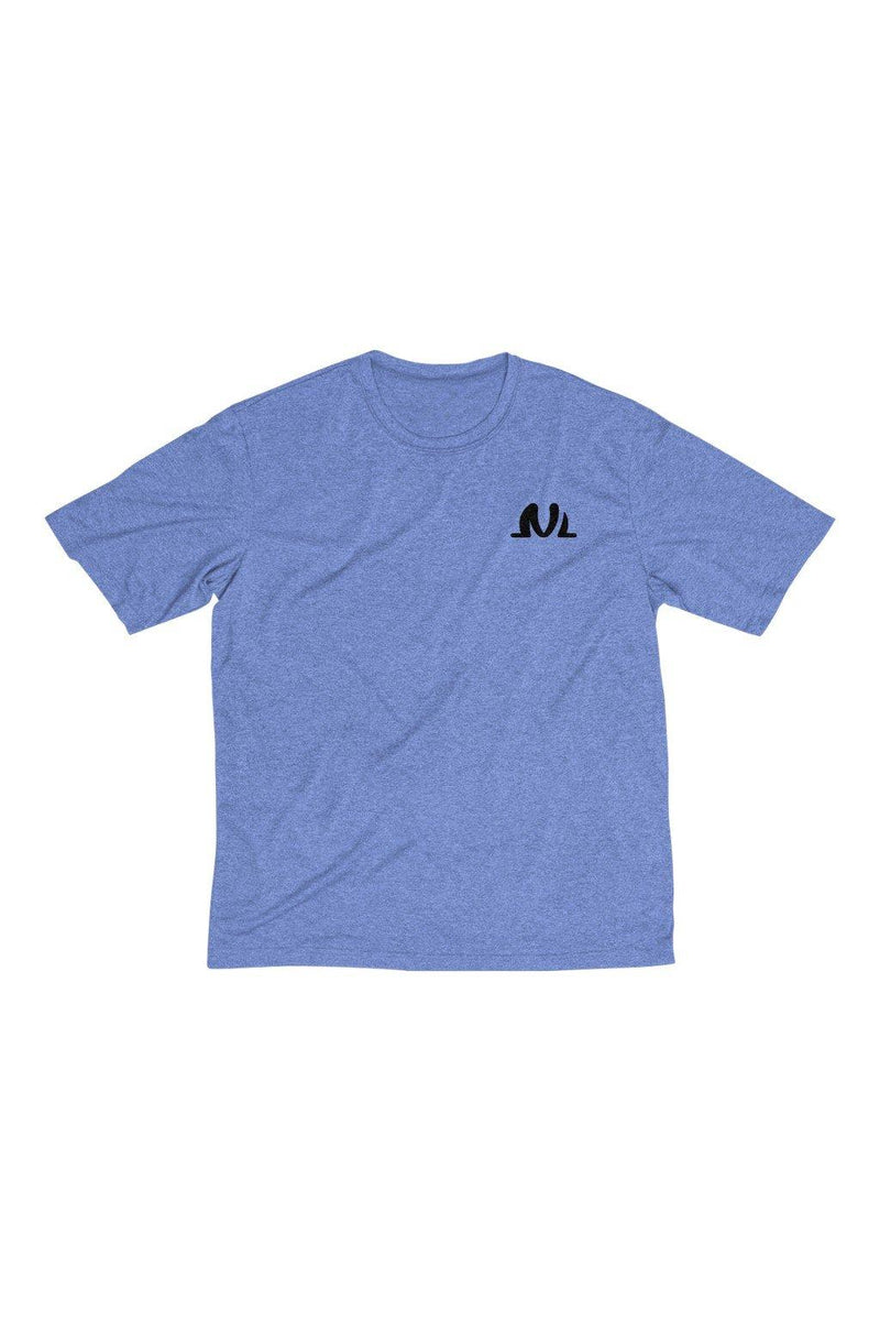 men's blue and black sport dry tee
