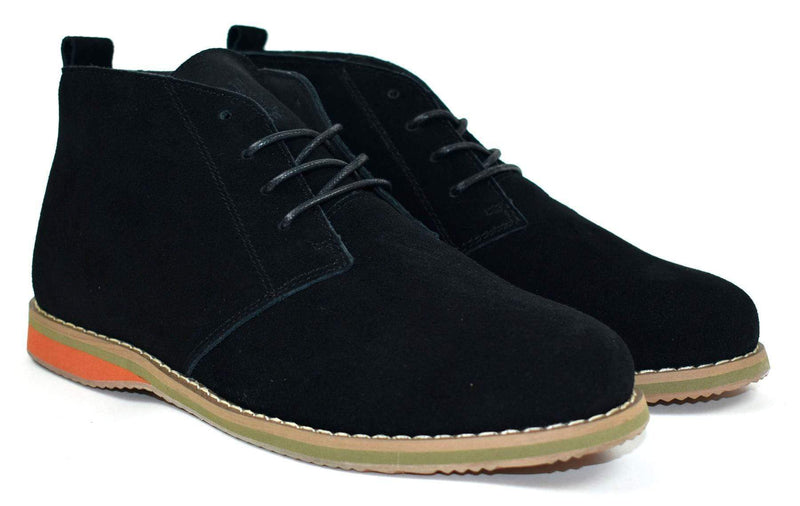 Men's Black Suede Desert Boot - MEN SHOES - NIGEL MARK