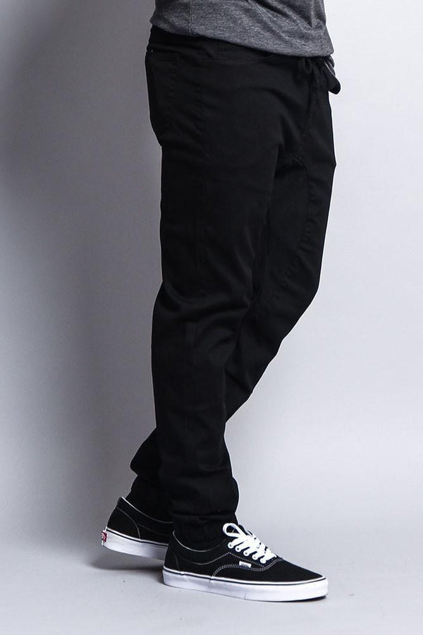 Men's Jogger Twill Pants (Black) - MEN BOTTOMS - NIGEL MARK