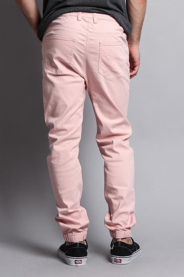 Men's Jogger Twill Pants - Dirty Pink - MEN BOTTOMS - NIGEL MARK