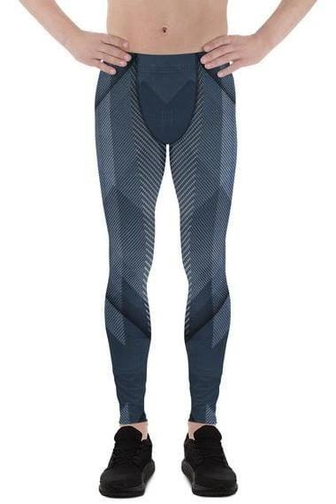 Mens Leggings - Cold Steel Sports Leggings - MEN BOTTOMS - NIGEL MARK