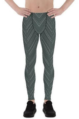 Mens Leggings - Sports Stripes Leggings - MEN BOTTOMS - NIGEL MARK