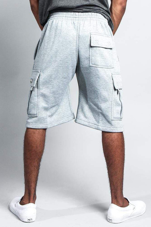 Men's Solid Fleece Heavyweight Cargo Shorts - MEN SHORTS - NIGEL MARK