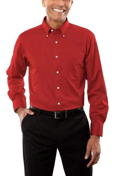 Men's Twill Long Sleeve Dress Shirt - MEN SHIRTS - NIGEL MARK
