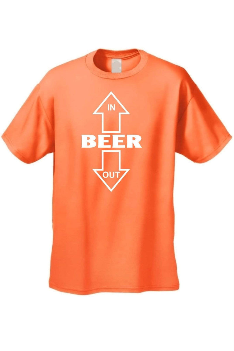 Men's/Unisex Beer Goes In, Beer Comes Out Short - MEN TOPS - NIGEL MARK