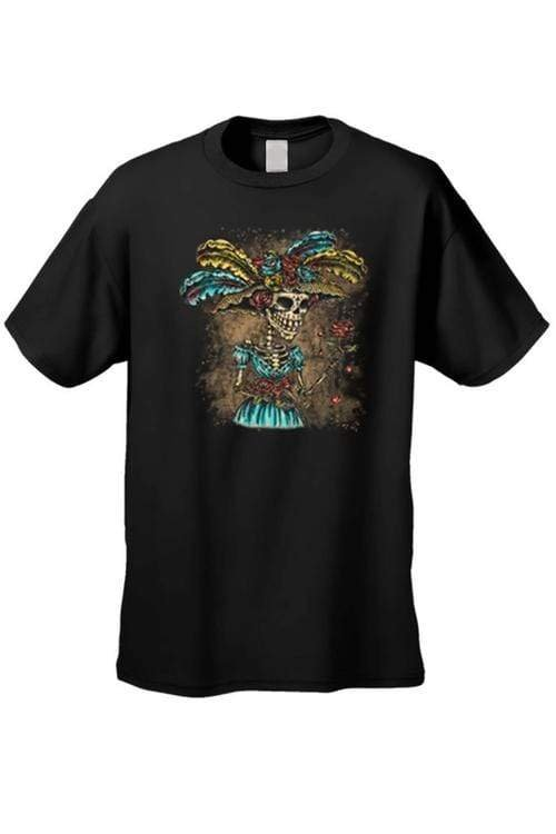 Men's/Unisex La Katrina Lady In Hat Sugar Skull - MEN TOPS - NIGEL MARK