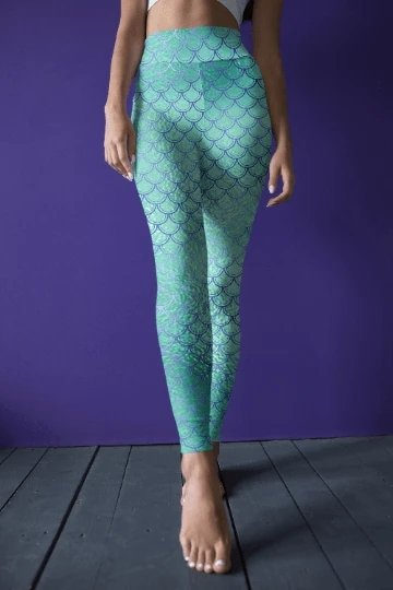 Mermaid Ankle Leggings - BOTTOMS - NIGEL MARK