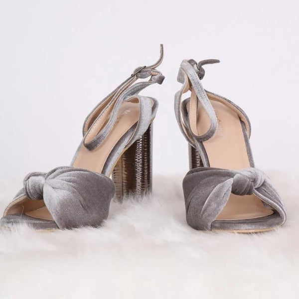 Metallic Block Heels - WOMEN SHOES - NIGEL MARK