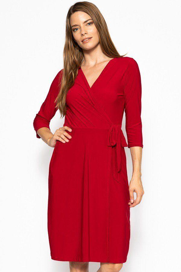 wine belted midi dress