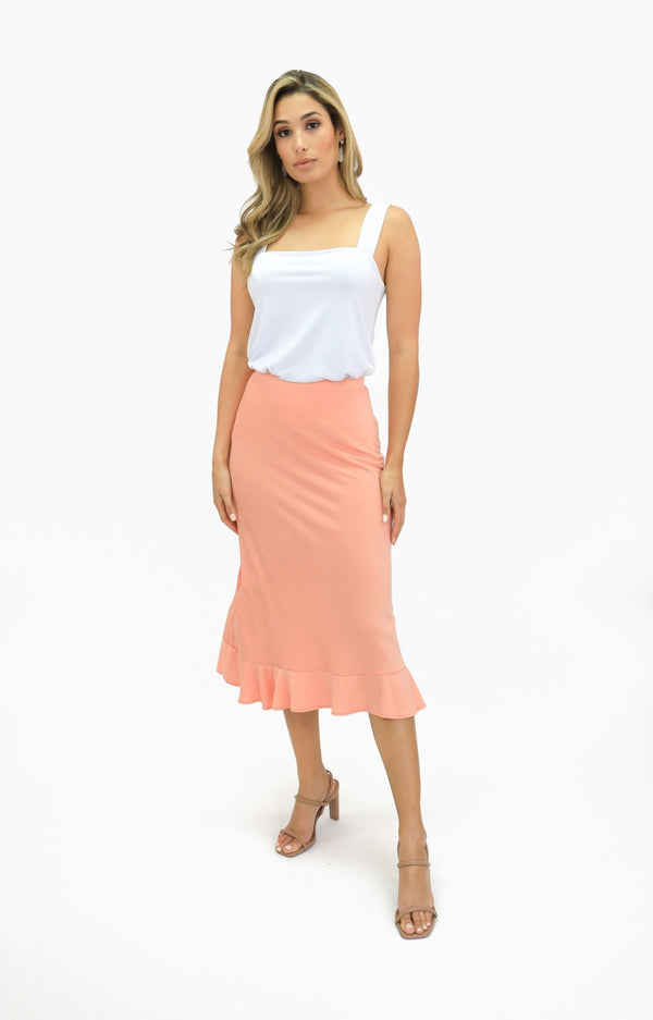 Midi Pull On Skirt - Women's Clothing - NIGEL MARK