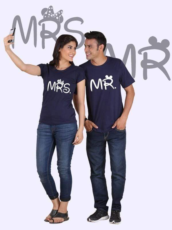 Mr. and Mrs. Couple T-Shirts - MEN TOPS - NIGEL MARK