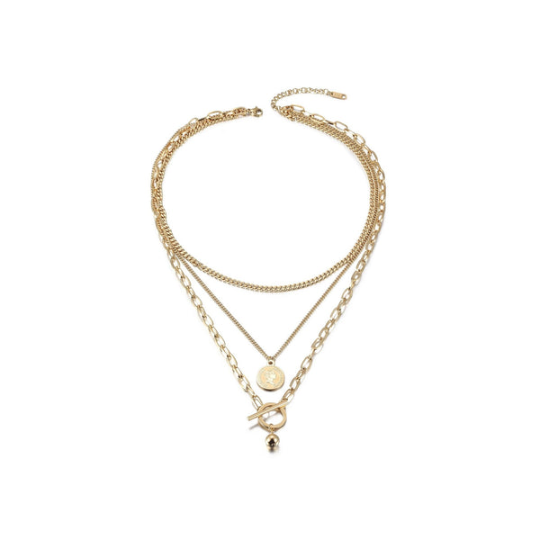 Multi-layered Elizabeth Coin Necklace - ACCESSORIES - NIGEL MARK