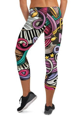 Music Capri Leggings - WOMEN BOTTOMS - NIGEL MARK