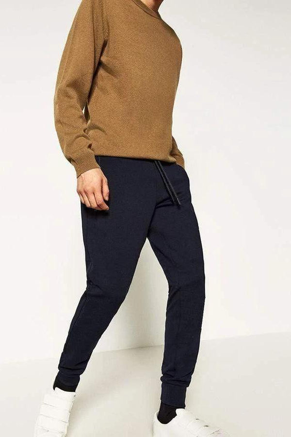 Navy Trouser - MEN BOTTOMS - NIGEL MARK