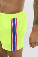 Neon Green Swim Shorts - MEN SHORTS - NIGEL MARK