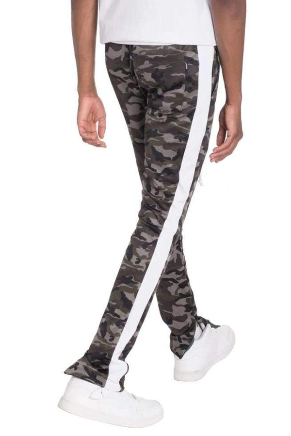 Neutral Camo Track Pants - White - MEN BOTTOMS - NIGEL MARK