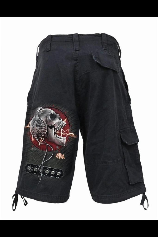 NEVER TOO LOUD - Vintage Cargo Shorts Black - MEN SHORTS - NIGEL MARK