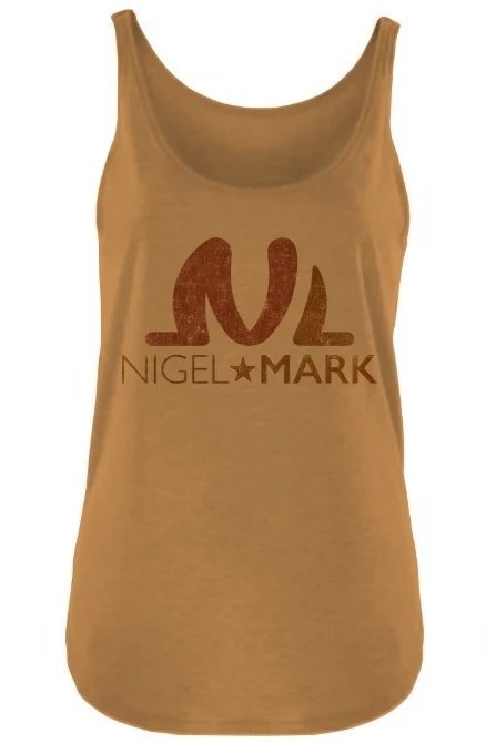 Nigel Mark Women Vintage Tanks - Antique Gold - WOMEN NM BRANDED - NIGEL MARK