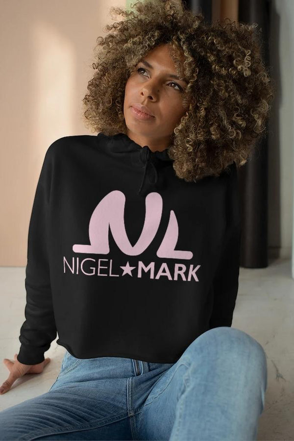NM Black Crop Hoodie - WOMEN NM BRANDED - NIGEL MARK
