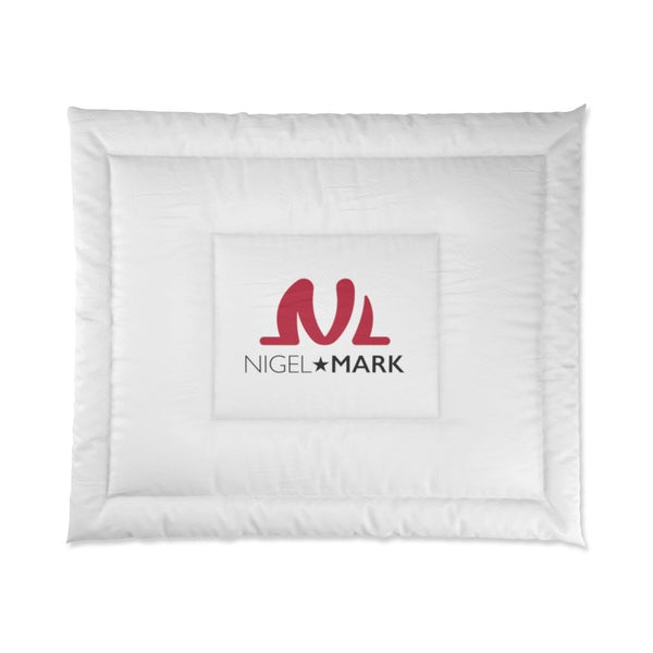 white large bed cover