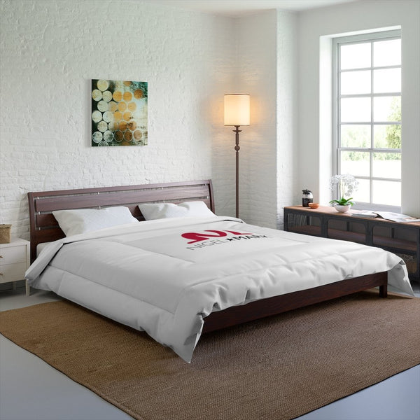 white large bed comforter