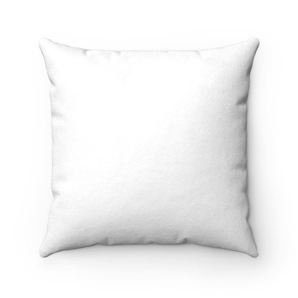 white square suede pillow