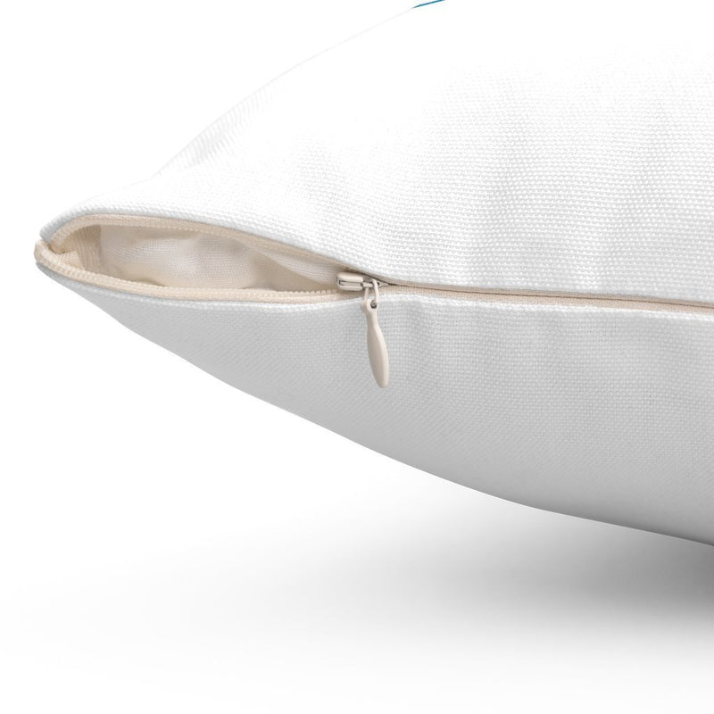 white zip up pillow case