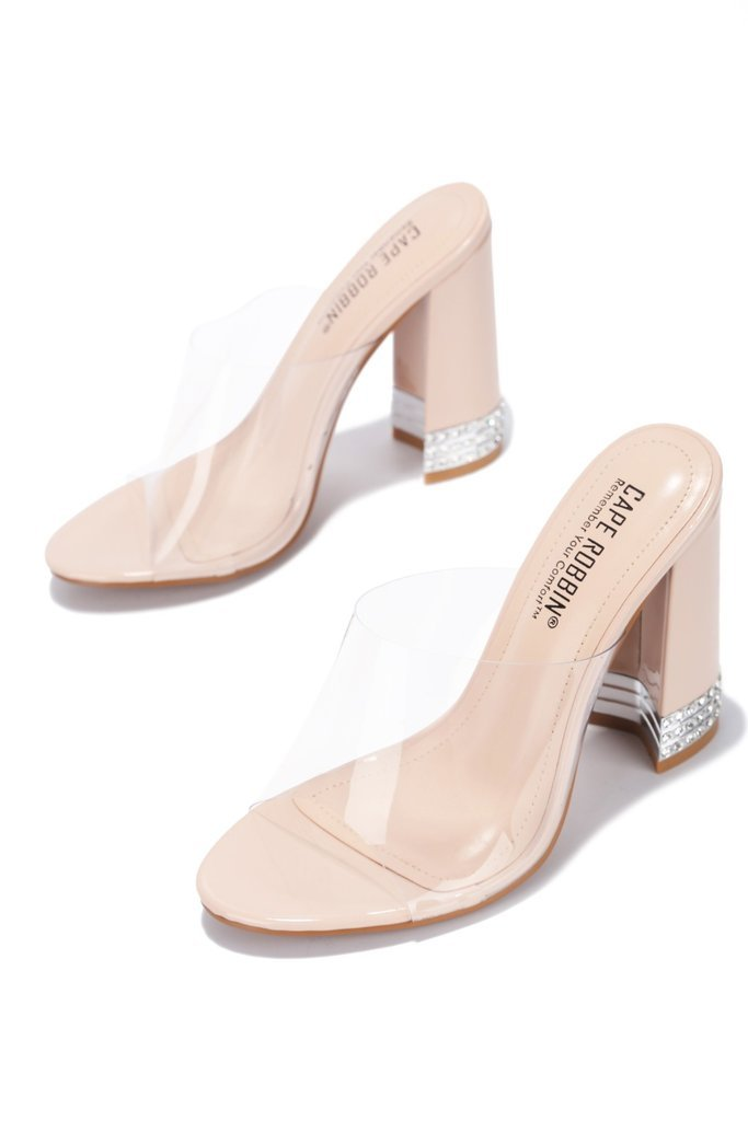 Nude Amsterdam Clear Block Heels - WOMEN SHOES & ACCESSORIES - NIGEL MARK