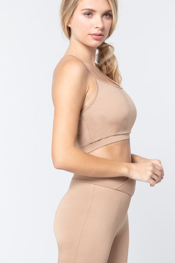 Nude Workout Cami Bra Top - ACTIVEWEAR - NIGEL MARK