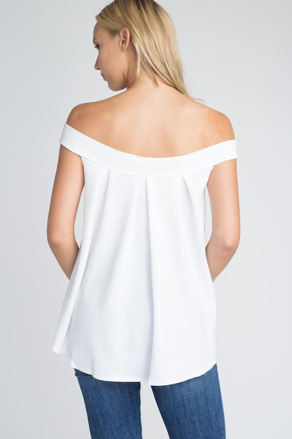Off Shoulder Flow Top - WOMEN TOPS - NIGEL MARK