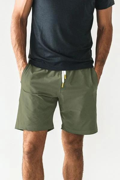 Olive Plain Shorts - MEN SHORTS - NIGEL MARK