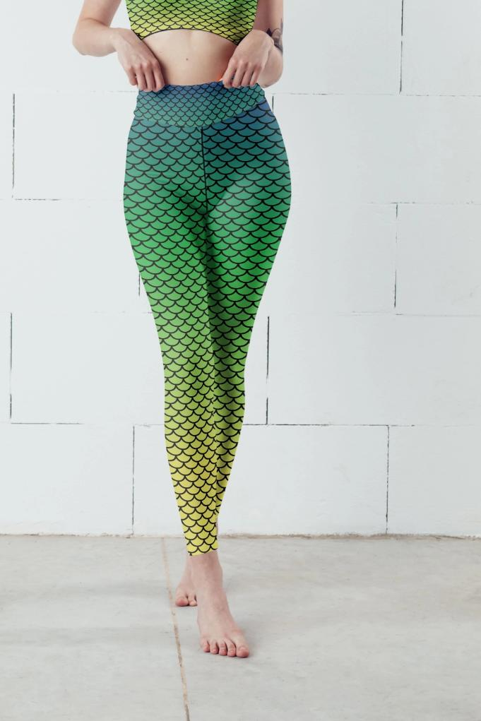 Ombre Mermaid Leggings, Capris and Shorts - WOMEN BOTTOMS - NIGEL MARK