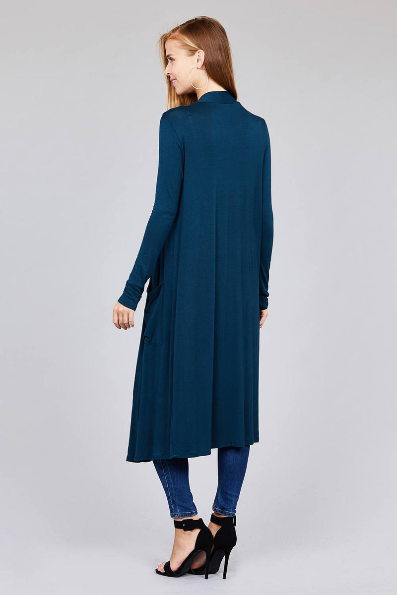 Open Front Long Cardigan - NIGEL MARK