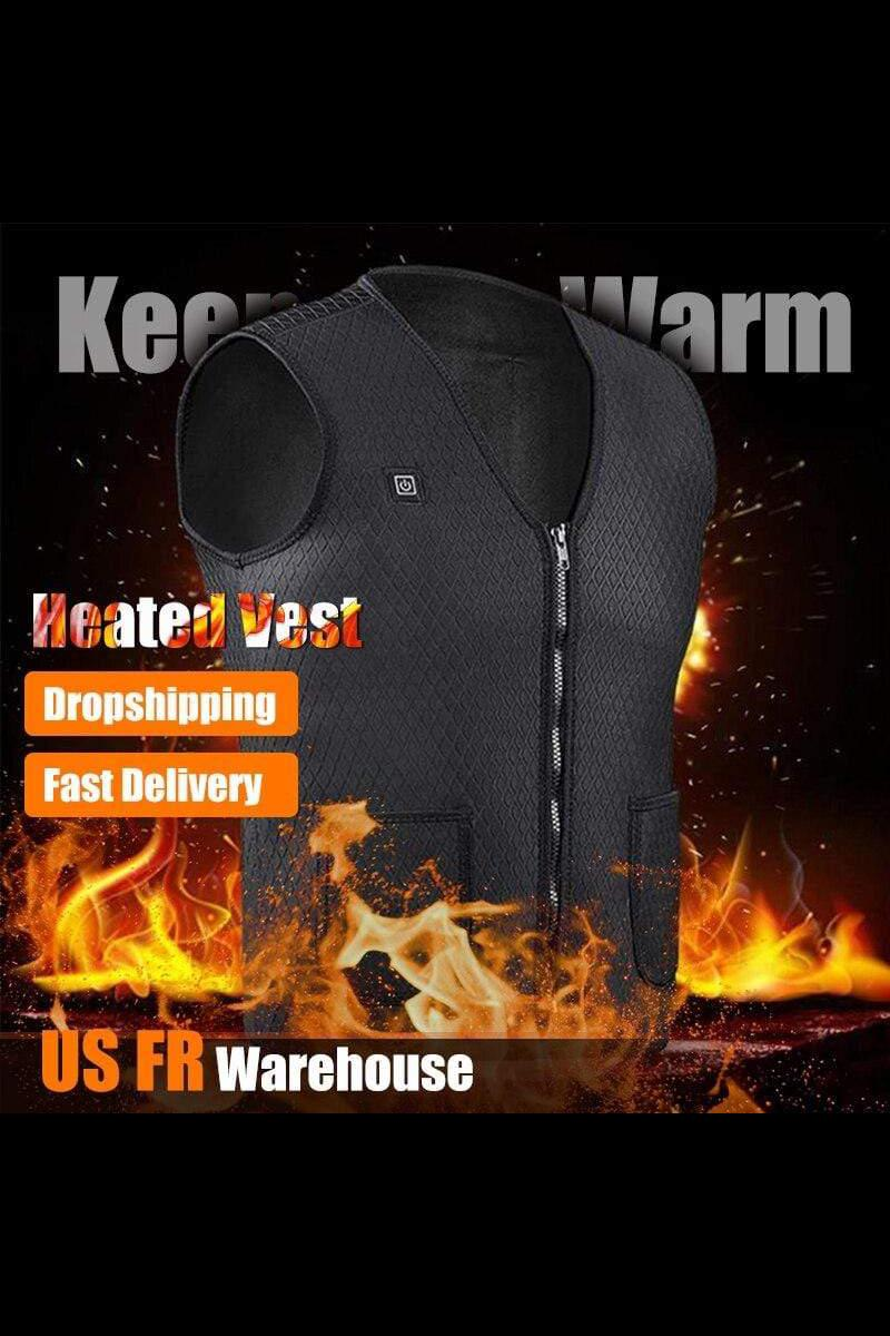 Outdoor USB Infrared Heating Vest Winter Flexible - MEN JACKETS & COATS - NIGEL MARK