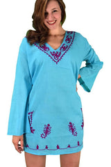 Oversized Embroidered Cover-Up - SWIMWEAR - NIGEL MARK