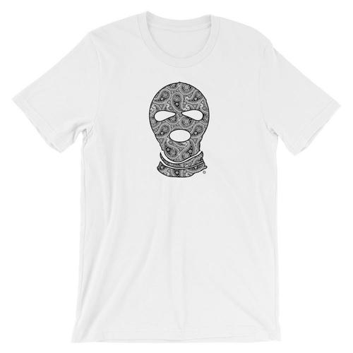 Paisley Mask T-Shirt - Men's Clothing - NIGEL MARK