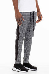Patterned Track Pants - Black - MEN BOTTOMS - NIGEL MARK