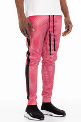 Patterned Track Pants - Red - MEN BOTTOMS - NIGEL MARK