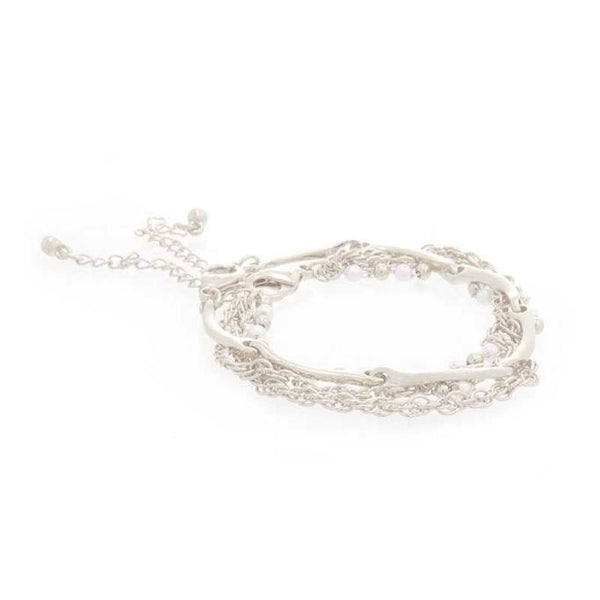 Pearl Multi Layered Chain Bracelet - ACCESSORIES - NIGEL MARK