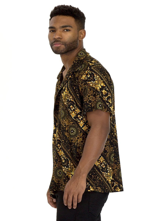 Pendant Button Down Shirt - MEN TOPS - NIGEL MARK