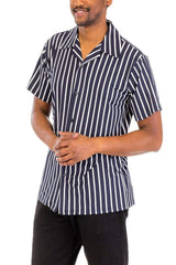 Pin Stripe Shirt - Navy - MEN SHIRTS - NIGEL MARK