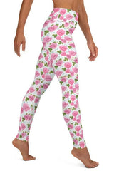 Pink Floral Leggings, Capris, Shorts - WOMEN BOTTOMS - NIGEL MARK