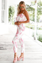 Pink Mottled Print Pant Set - MATCHING SETS - NIGEL MARK