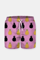 Pink Pineapple Pattern Shorts - MEN SHORTS - NIGEL MARK