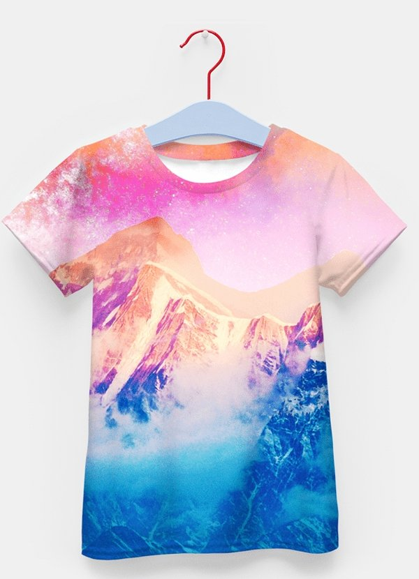 Pink Sky Sublimation Kids T-Shirt - MEN TOPS - NIGEL MARK