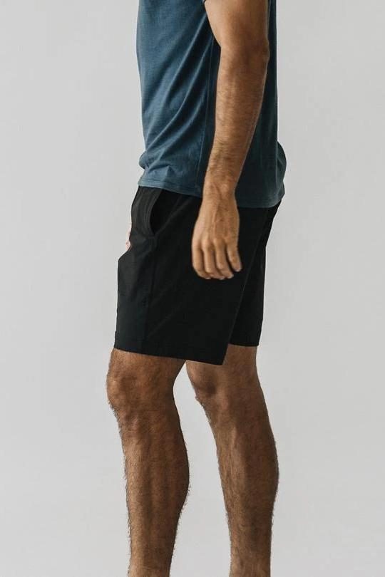 Plain Shorts - Black - MEN SHORTS - NIGEL MARK