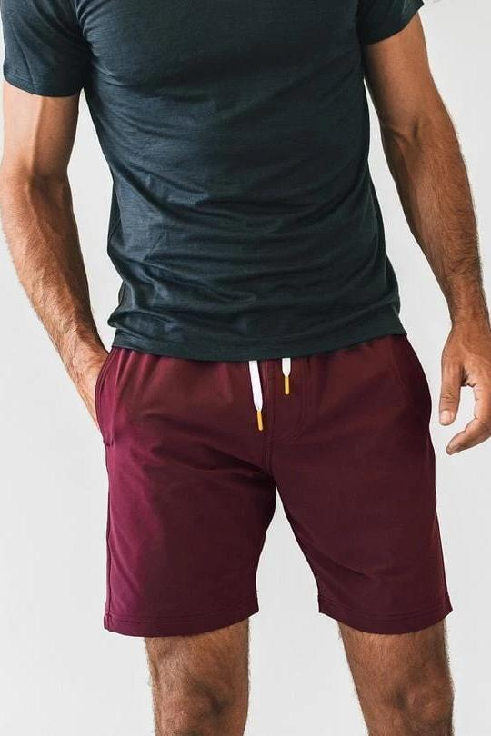 Plain Shorts - Crimson - MEN SHORTS - NIGEL MARK