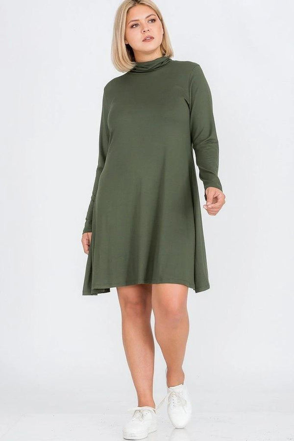 Plus Size Flare Dress - PLUS DRESSES - NIGEL MARK